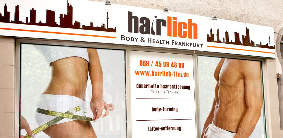 Entrance to hairlich Frankfurt